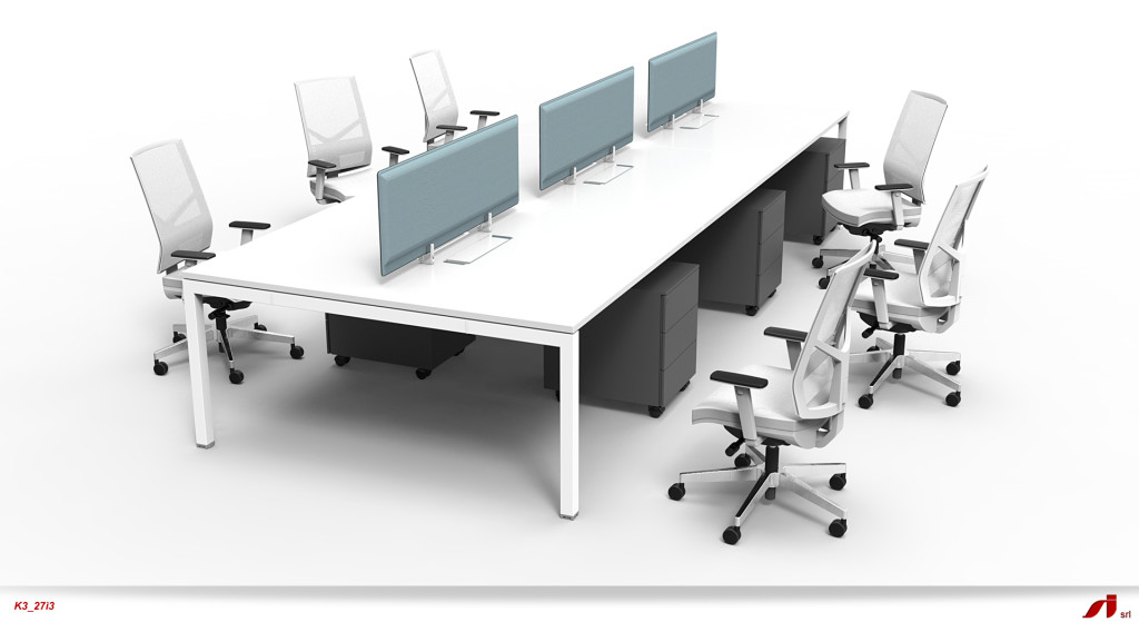 X3 Multi Personnel bench desk office set up