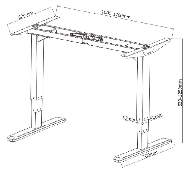 Sit-Stand Desk Dimensions