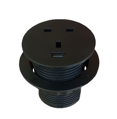 60mm In Desk Power Grommet + USB 5V