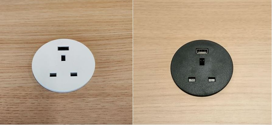 In Desk Power Grommet + USB 5V
