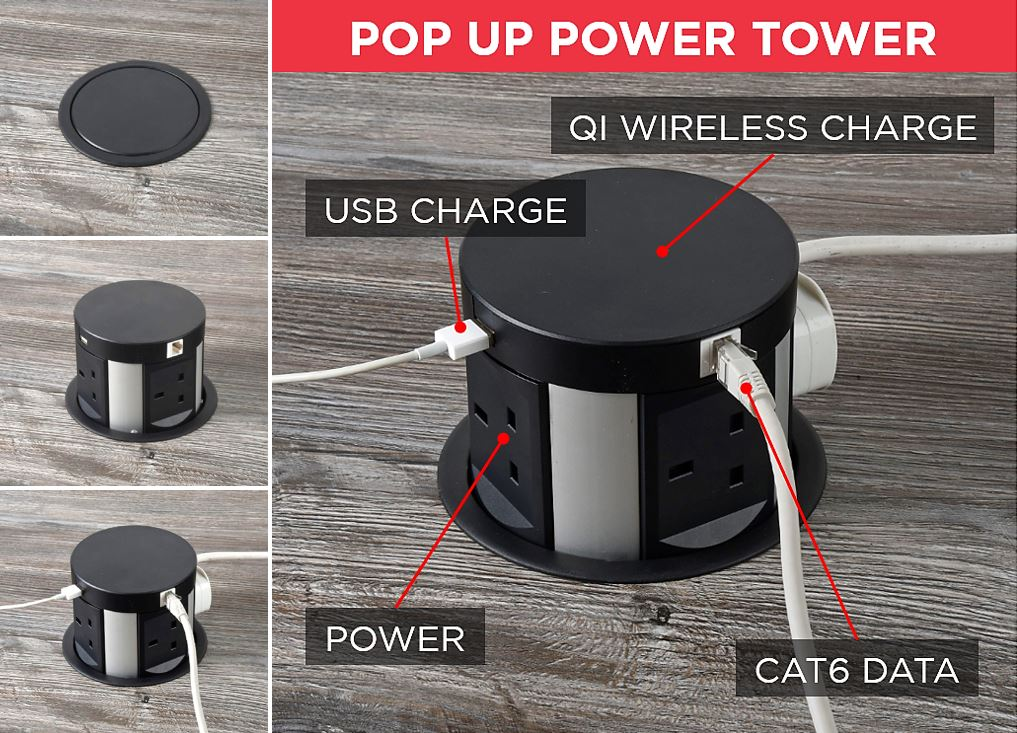 Automatic Pop Up Power Tower Socket.BI