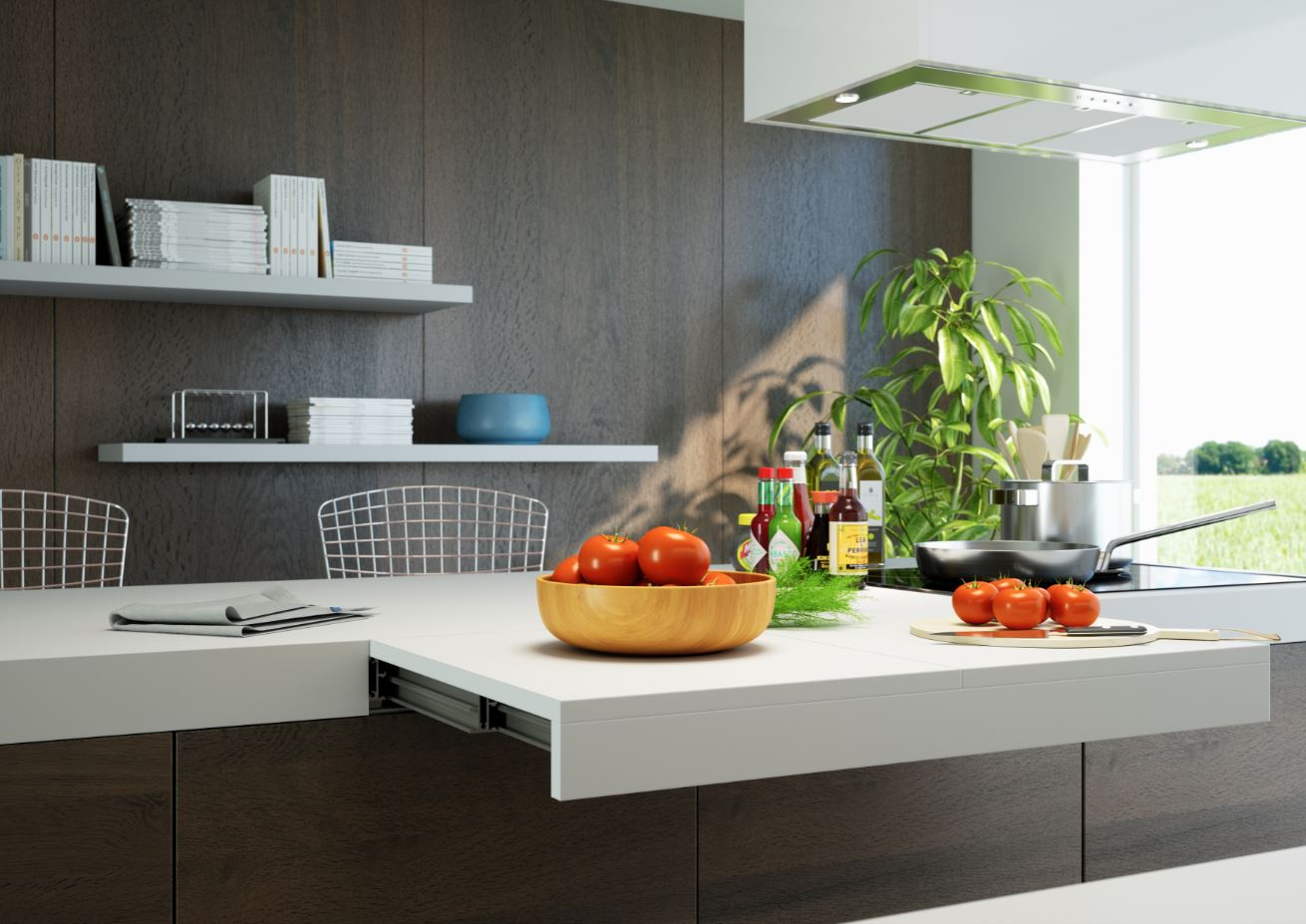 SANDWICH Pull Out Counter Top