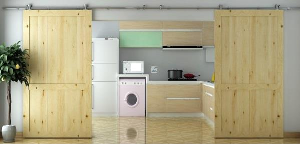 Wooden Sliding Door Kit. Double